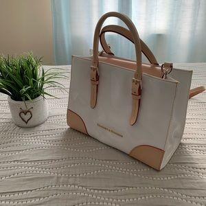 Dooney and Bourke patent Janine satchel handbag